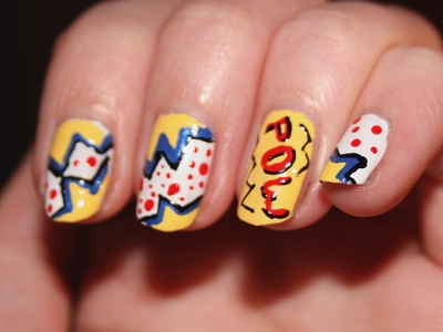 Pop art nails2